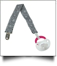 Spider Web Print Pacifier Holder Clip - BLACK - CLOSEOUT