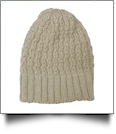 Chunky Knit Cap  Embroidery Blanks - OATMEAL - CLOSEOUT