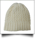 Chunky Knit Cap  Embroidery Blanks - LINEN - CLOSEOUT