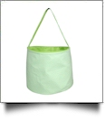 Monogrammable Gingham Easter Basket & Halloween Bucket Tote - LIME