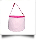 Monogrammable Gingham Easter Basket Bucket Tote - PINK