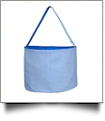 Monogrammable Gingham Easter Basket Bucket Tote - BLUE