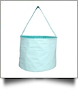 Monogrammable Gingham Easter Basket & Halloween Bucket Tote - AQUA - CLOSEOUT
