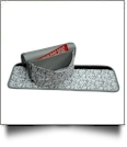 Shopping Cart Handle Cover & Handy Coupon Tote - GRAY FLORAL - CLOSEOUT