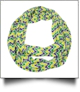 Mardi Gras Beads Print Jersey Knit Infinity Scarf Embroidery Blanks - CLOSEOUT