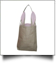 Burlap Bunny Ear Easter Tote - PINK - CLOSEOUT