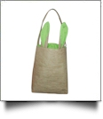 Burlap Bunny Ear Easter Tote - LIME - CLOSEOUT