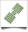 Unsewn 12oz Can Coolie Embroidery Blanks - MARDI GRAS CHEVRON - CLOSEOUT