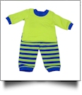 "Striped Pajamas for 18"" Dolls - LIME/BLUE - CLOSEOUT"
