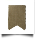 Raw-Edge Rustic Burlap Bunting Pennant Flag - SWALLOWTAIL - CLOSEOUT