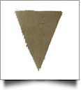Raw-Edge Rustic Burlap Bunting Pennant Flag - TRIANGLE - CLOSEOUT