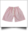The Coral Palms® Blank Boys Seersucker Swimming Trunks - RED