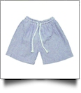 The Coral Palms® Blank Boys Seersucker Swimming Trunks - NAVY