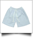 The Coral Palms® Blank Boys Seersucker Swimming Trunks - BLUE
