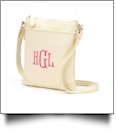 Crossbody Monogrammable Purse - Creme