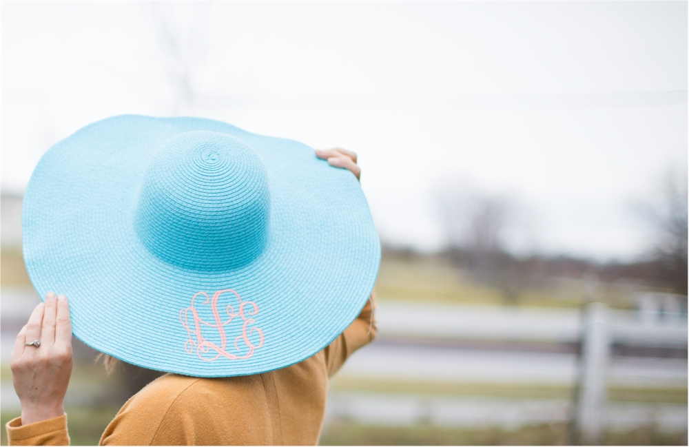 Wide Brim Floppy Hat Embroidery Blanks - AQUA 80c9f263d2d