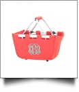 Mini Foldable Market Tote Embroidery Blanks - CORAL