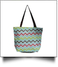 Chevron Print Tote Bag Embroidery Blanks - MULTI-COLOR - CLOSEOUT