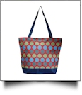 Jumbo Dots Print Tote Bag Embroidery Blanks - RED/MULTI - CLOSEOUT