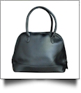 Luxurious Shell Faux Leather Handbag Purse - BLACK