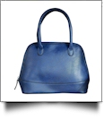 Luxurious Shell Faux Leather Handbag Purse - NAVY - CLOSEOUT