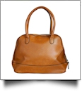 Luxurious Shell Faux Leather Handbag Purse - LIGHT BROWN - CLOSEOUT