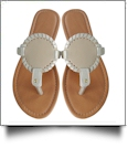 EasyStitch Medallion Sandals  - TAN - CLOSEOUT