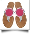 EasyStitch Medallion Sandals -  HOT PINK - CLOSEOUT