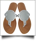EasyStitch Medallion Sandals  - GRAY - CLOSEOUT
