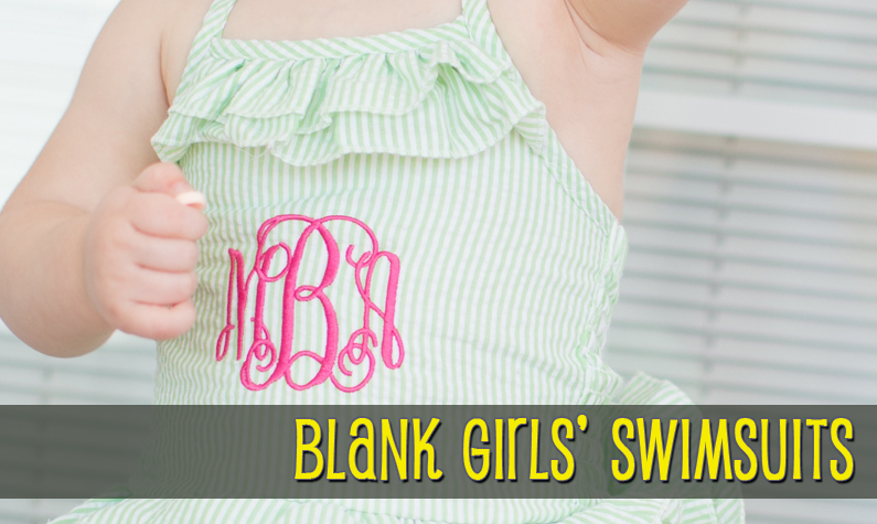 Girls Blank Baby Toddler Swimsuits