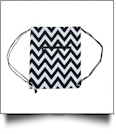 Chevron Print Gym Bag Drawstring Pack Embroidery Blanks - BLACK TRIM