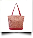 Ballet Dance Print Tote Bag Embroidery Blanks - PINK