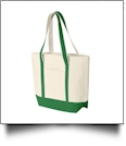 Beach Tote Bag Embroidery Blanks - NATURAL/CLOVER