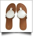 EasyStitch Medallion Sandals  - WHITE - CLOSEOUT