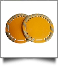 "The Coral Palms® 2.5"" EasyStitch Medallion Add-Ons One Pair - TANGERINE/GOLD"