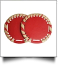 "The Coral Palms® 2.5"" EasyStitch Medallion Add-Ons One Pair - RED/GOLD"