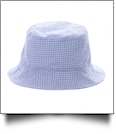 The Coral Palms� Gingham Toddler Bucket Hat - BLUE