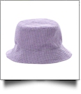 The Coral Palms� Gingham Toddler Bucket Hat - LAVENDER
