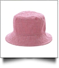 The Coral Palms� Gingham Toddler Bucket Hat - RED