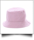 The Coral Palms� Gingham Toddler Bucket Hat - LIGHT PINK