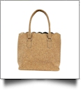 Luxurious Scalloped Cork Purse - FULL CORK