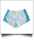 The Coral Palms� Seersucker Fashion Stripe Running Short  - AQUA - CLOSEOUT