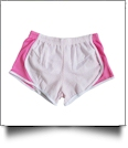 The Coral Palms� Seersucker Fashion Stripe Running Short  - PINK - CLOSEOUT