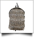 Leopard Print Backpack Embroidery Blanks - BLACK TRIM