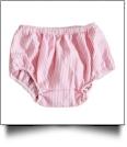 Seersucker Diaper Cover - HOT PINK