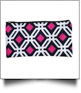 Graphic Print Pencil Case Embroidery Blanks - BLACK TRIM - CLOSEOUT
