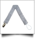 Gingham Plaid Pacifier Holder Clip - BLACK - CLOSEOUT