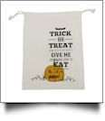 Trick Or Treat, Be So Sweet!  Canvas Halloween Treat Bag