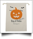 Jack 'O Lantern Canvas Halloween Treat Bag
