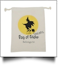 Flying Witch Canvas Halloween Treat Bag